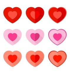 Valentine flat icon heart vector