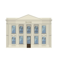 Bank building icon isolated vector