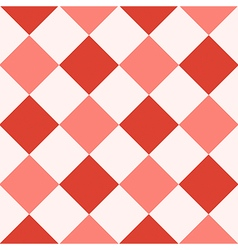Red fiesta white diamond chessboard background vector