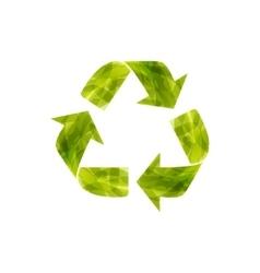 Recycle watercolor symbol vector image