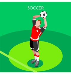 Soccer throw 2016 summer games isometric 3d vector