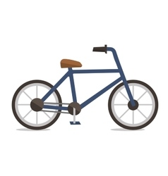 Side view of classic bicycle vector
