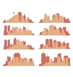 Big city skylines vector