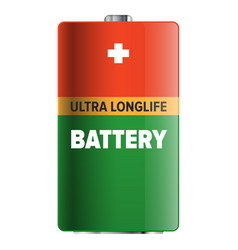 Big ultra longlife battery isolated vector