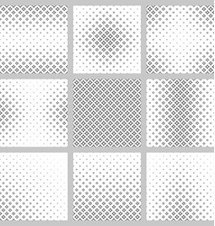 Black and white curved star pattern set vector