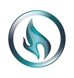Blue flame icon vector