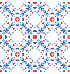 Blue red pattern boho background vector