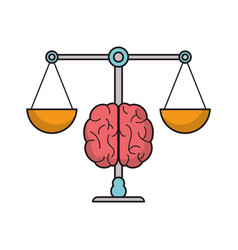 Brain balance idea image vector
