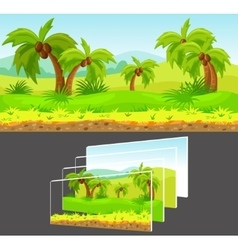 Cartoon Game Design Concept vector image vector image