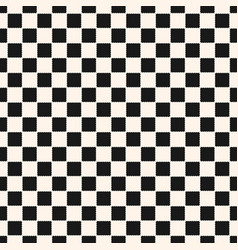 Checkered geometric seamless pattern with squares vector