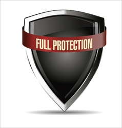 Full protection silver shield vector