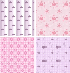 girly patterns vector image vector image