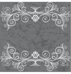 grey frame vector image