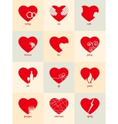 Infographic for valentines day vector