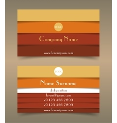 Modern creative business card template vector