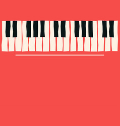 Piano keys music poster template jazz and blues vector
