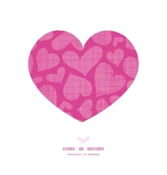 Pink lace hearts textile texture heart frame vector