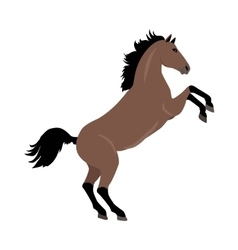 Rearing sorrel horse in flat design vector
