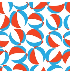 Seamless pattern with red white and blue beach vector image