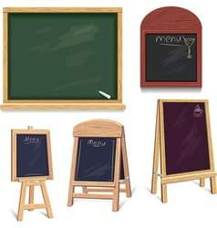 set of menu boards vector image vector image