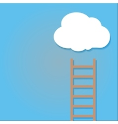 Staircase into the clouds vector