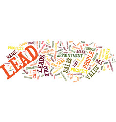 The lie about leads text background word cloud vector