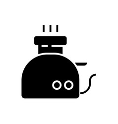 toaster icon black sign on vector image