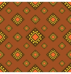 Tribal brown seamless pattern vector image vector image