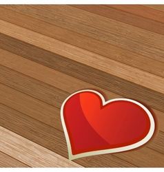Valentines Day background with heart EPS8 vector image vector image