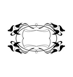 Vintage calligraphic frame - round decorative vector