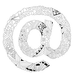 zentangle stylized sign vector image vector image