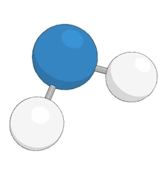 Science background with molecule on white vector