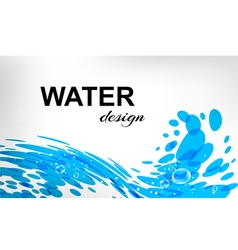 Water design splash wave on white background vector