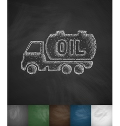 Transportation of oil icon vector
