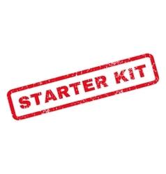 Starter Kit Rubber Stamp vector image