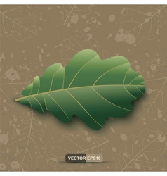 Oak Leaf On A Grunge Background EPS10 vector image
