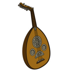 Vintage stringed instrument vector