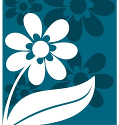 Floral ornament in blue and white vector