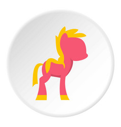Little pony icon circle vector