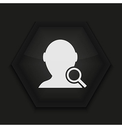 creative icon on black background Eps10 vector image