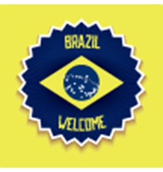 Welcome to brazil sign vector
