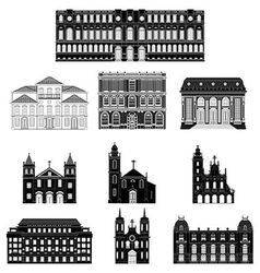 Old architecture vector