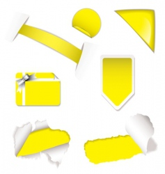 shop sale elements yellow vector image
