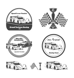Car racing emblems vector image