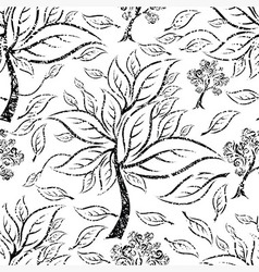 Seamless tree pattern 015 grunge vector
