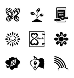 Spring icon set vector