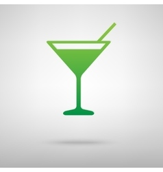 Coctail icon with shadow vector
