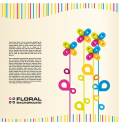 abstract floral layout background vector image