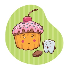 sweets and teeth vector image