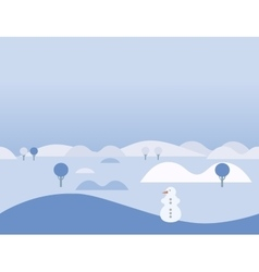 Seamless cartoon nature winter landscape vector